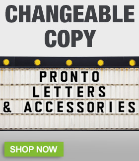 Pronto Changeable Copy Letters
